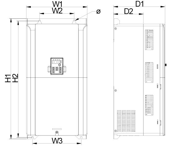 Dimensiones GD20